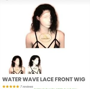 Sale  💜Water wave 16 in human hair wig no tags